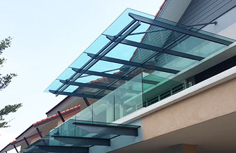 SKYLIGHT GLASS AWNING